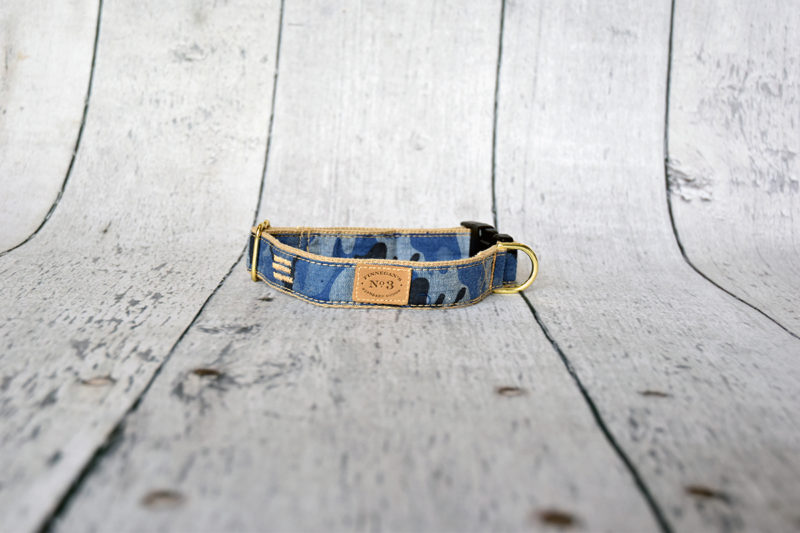 "1"" Denim Camo Collar"