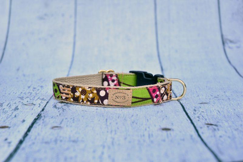 """1"""" Floral Dot Print Collar"""