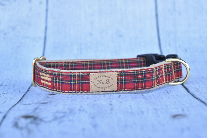 "1"" Small Red Plaid Collar"