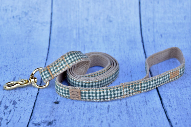 "3/4"" Small Green Plaid Lead"